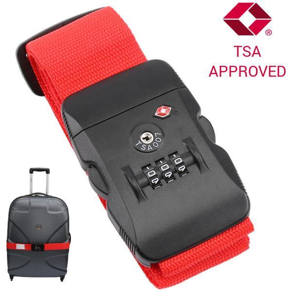 Ιμάντας Ασφαλείας Αποσκευών με Συνδυασμό TSA Approved Olympia TSA 200 Κόκκινος paixnidia hobby eidh tajidioy ajesoyar tajidioy
