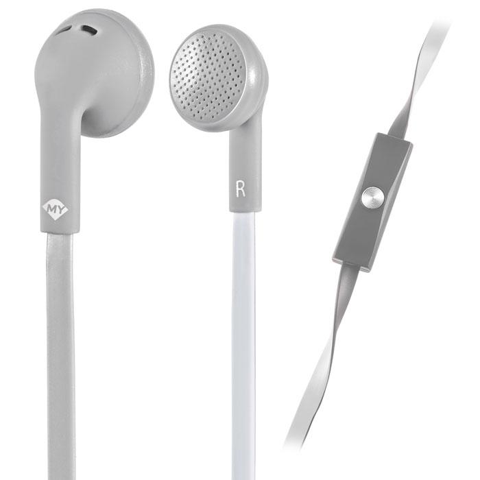 Ακουστικά Stereo με Μικρόφωνο 3.5mm Meliconi Mysound Speak Flat Bicolor Grey/Whi hlektrikes syskeyes texnologia perifereiaka ypologiston akoystika