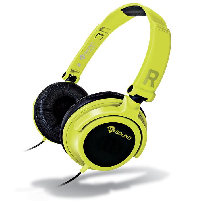 Ακουστικά Stereo με Μικρόφωνο 3.5mm Meliconi Mysound Speak Smart Fluo YELlow-Bla hlektrikes syskeyes texnologia perifereiaka ypologiston akoystika
