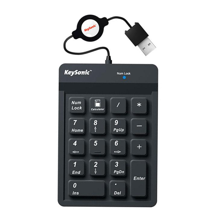 Ενσύρματο Αριθμητικό Πληκτρολόγιο Keysonic ACK-118BK hlektrikes syskeyes texnologia perifereiaka ypologiston plhktrologia