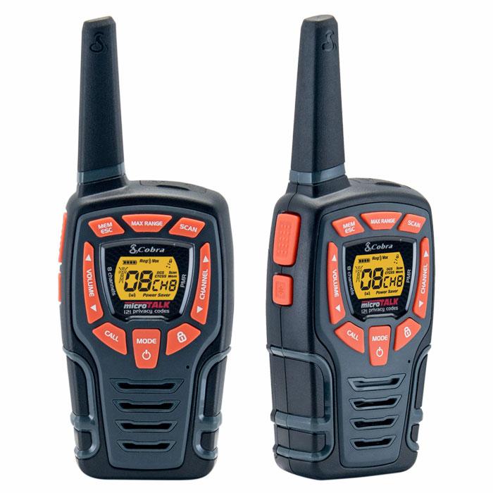Walkie Talkie 10km Cobra AM845 Μαύρο-Πορτοκαλί paixnidia hobby gadgets diafora