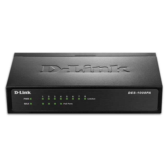 Switch 10/100 8-Port D-Link DES-1008PA hlektrikes syskeyes texnologia perifereiaka ypologiston diktya
