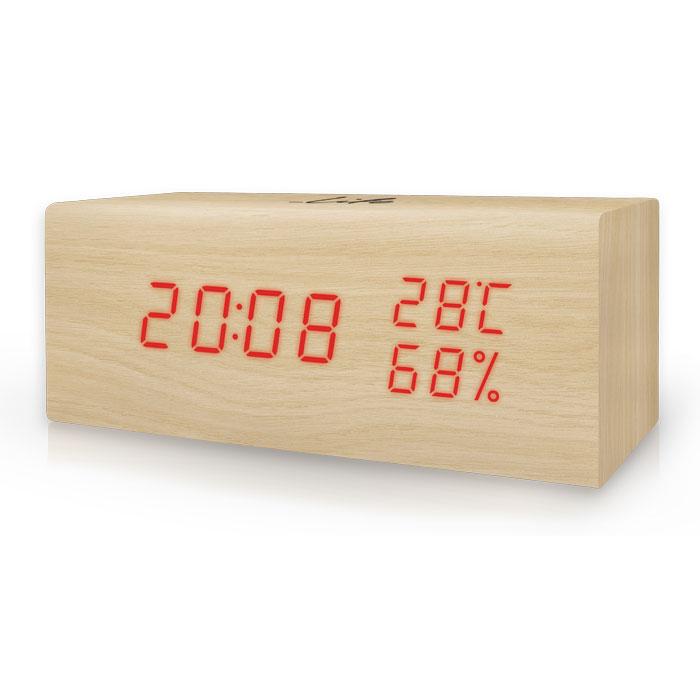 Ψηφιακό Θερμόμετρο/Υγρόμετρο με Ρολόι Life WES-106 Ξύλινο paixnidia hobby gadgets meteorologikoi staumoi