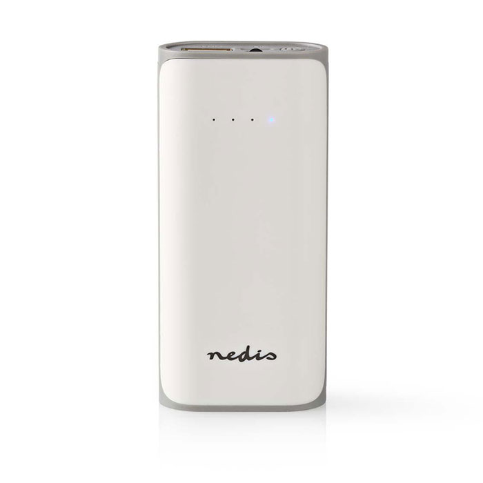 Power Bank 5000mAh Nedis UPBK5000WT Λευκό hlektrikes syskeyes texnologia kinhth thlefonia ajesoyar