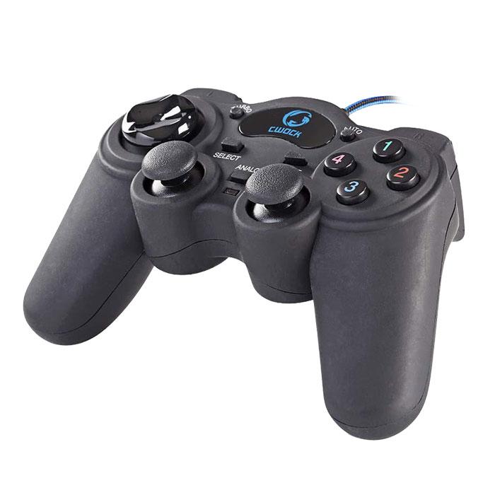 Ενσύρματο Gamepad με Λειτουργία Δόνησης Nedis GGPD100BK gaming perifereiaka gaming pc xeiristhria