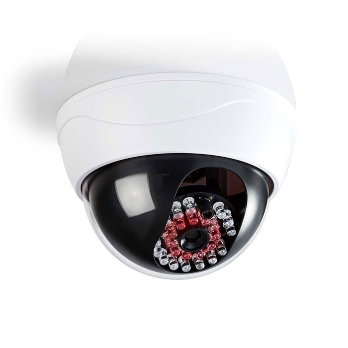 Ομοίωμα Κάμερας Security Nedis DUMCD20WT Λευκό hlektrikes syskeyes texnologia systhmata asfaleias syskeyes dummy