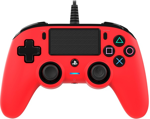 Nacon Wired Compact Controller Red - PS4 Controller gaming perifereiaka gaming ps4 xeiristhria
