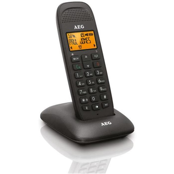 Ασύρματο Τηλέφωνο Aeg Voxtel D81 Μαύρο hlektrikes syskeyes texnologia stauerh thlefonia thlefona