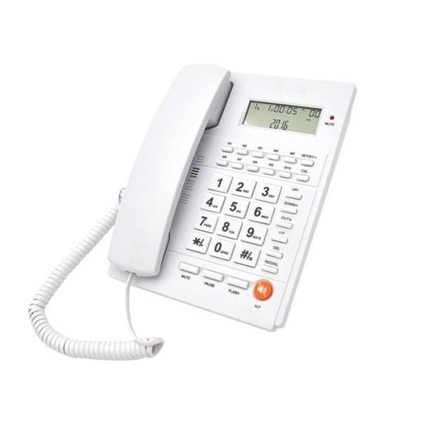 Ενσύρματο Τηλέφωνο Telco ΤΜ-PA117 Λευκό hlektrikes syskeyes texnologia stauerh thlefonia thlefona