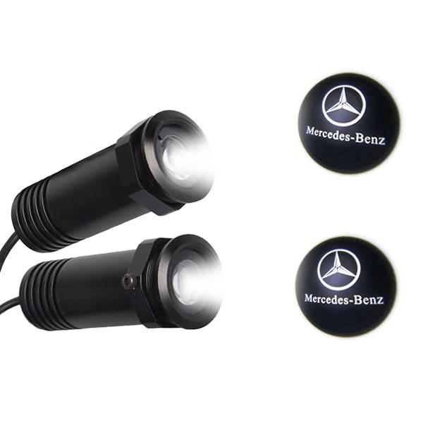 Mercedes LED Ghost Logo Projector GloboStar 98562 aytokinhto mhxanh fotismos oxhmaton led logo shadow projector