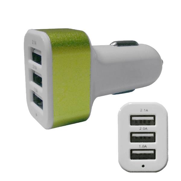 Φορτιστής Αναπτήρα Αυτοκινήτου 3 x USB Λαχανί GloboStar 69992 ergaleia kataskeyes hlektrologikos ejoplismos trofodotika