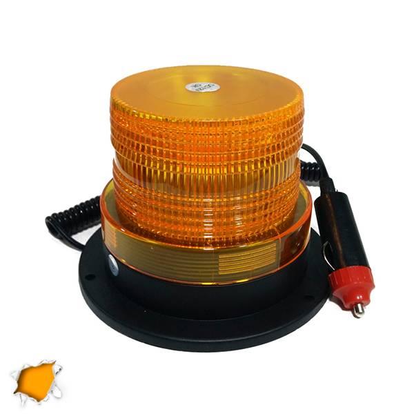 Φάρος Οδικής Βοήθειας LED 12-24 Volt DC Πορτοκαλί με Μαγνήτη Strobe GloboStar 88 aytokinhto mhxanh fotismos oxhmaton fota led odikhs shmanshs