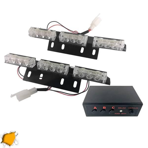 Φώτα Οδικής Βοήθειας LED 2 x 3 12-24 Volt DC Πορτοκαλί Εξωτερικά GloboStar 88980 aytokinhto mhxanh fotismos oxhmaton fota led odikhs shmanshs