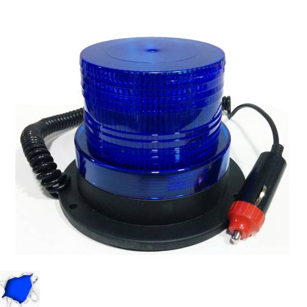 Φάρος LED 12-24 Volt DC Μπλε με Μαγνήτη Strobe GloboStar 88655 aytokinhto mhxanh fotismos oxhmaton fota led odikhs shmanshs
