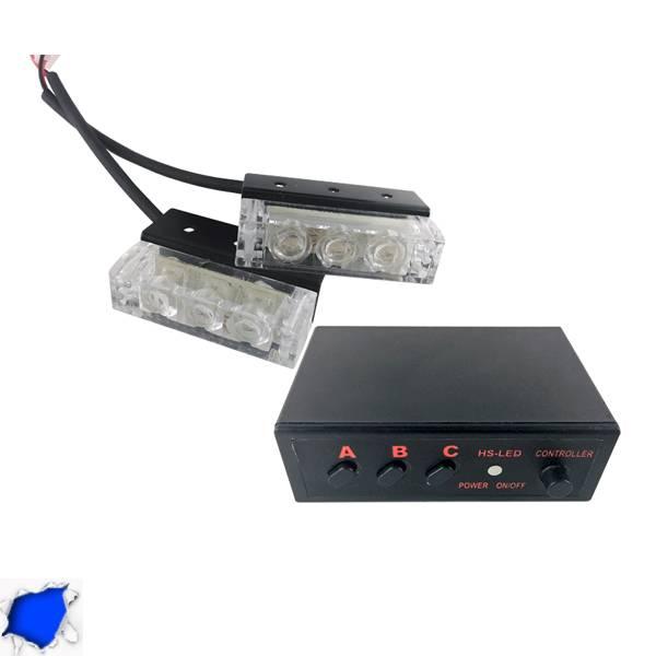 Φώτα Ασφαλείας LED 2 x 1 12-24 Volt DC Μπλε Εξωτερικά GloboStar 77665 aytokinhto mhxanh fotismos oxhmaton fota led odikhs shmanshs