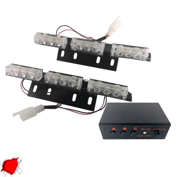 Φώτα Ασφαλείας LED 2 x 3 12-24 Volt DC Κόκκινο Εξωτερικά GloboStar 88983 aytokinhto mhxanh fotismos oxhmaton fota led odikhs shmanshs