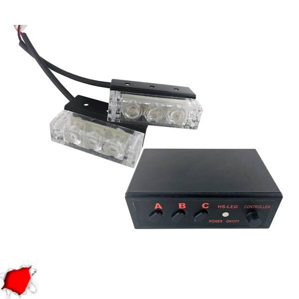 Φώτα Ασφαλείας LED 2 x 1 12-24 Volt DC Κόκκινο Εξωτερικά GloboStar 88944 aytokinhto mhxanh fotismos oxhmaton fota led odikhs shmanshs