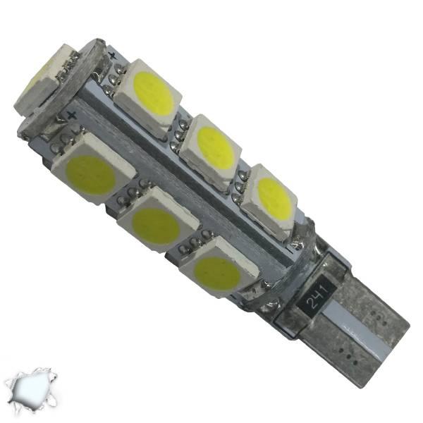 Λαμπτήρας LED T10 Can Bus με 13 SMD 5050 Ψυχρό Λευκό GloboStar 21540 aytokinhto mhxanh fotismos oxhmaton lampes led t10