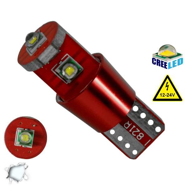 Λαμπτήρας LED T10 Can Bus με 3 CREE LED 12v 6000k GloboStar 04477 aytokinhto mhxanh fotismos oxhmaton lampes led t10