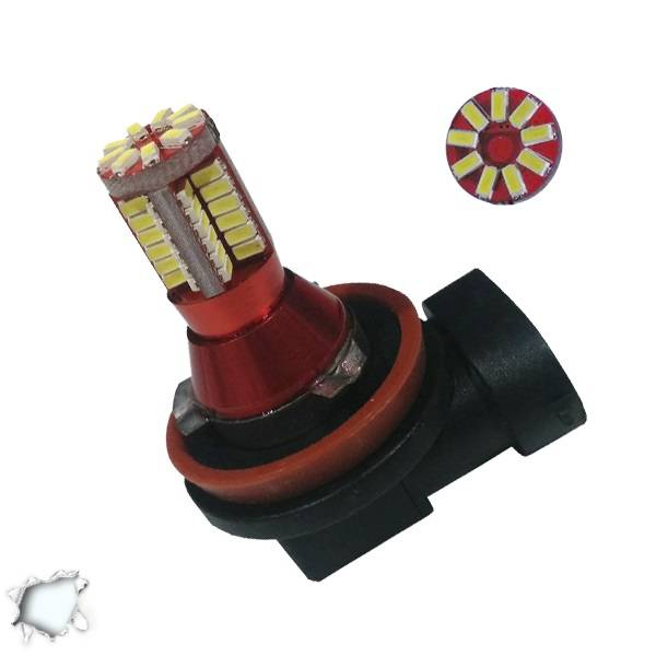 Λαμπτήρας LED H8 Can Bus με 57 SMD 3014 6000k GloboStar 40134 aytokinhto mhxanh fotismos oxhmaton lampes led gia probolakia