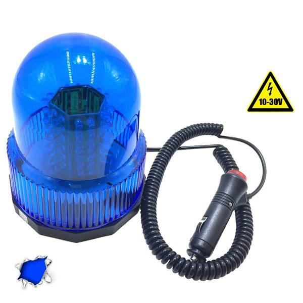 Φάρος Αστυνομίας 100 LED 10-30 Volt DC Μπλε με Μαγνήτη GloboStar 34229 aytokinhto mhxanh fotismos oxhmaton fota led odikhs shmanshs