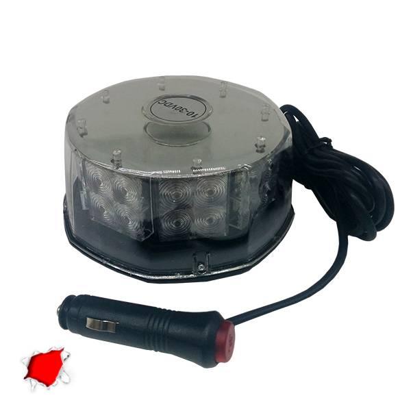 Φάρος Στρογγυλός Οροφής 40 Watt 10-30 Volt DC Κόκκινος με Μαγνήτη GloboStar 3423 aytokinhto mhxanh fotismos oxhmaton fota led odikhs shmanshs