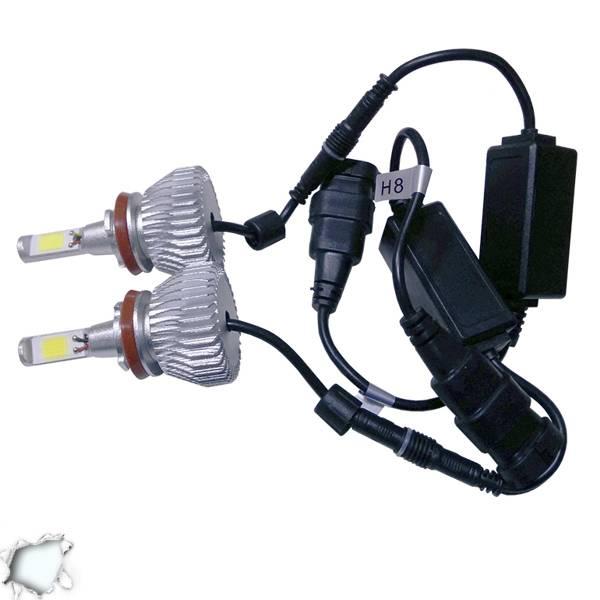 LED HID Kit H16 36 Watt 9-36 Volt DC 3600 Lumen 6000k C6 Economy Line GloboStar  aytokinhto mhxanh fotismos oxhmaton led hid kit