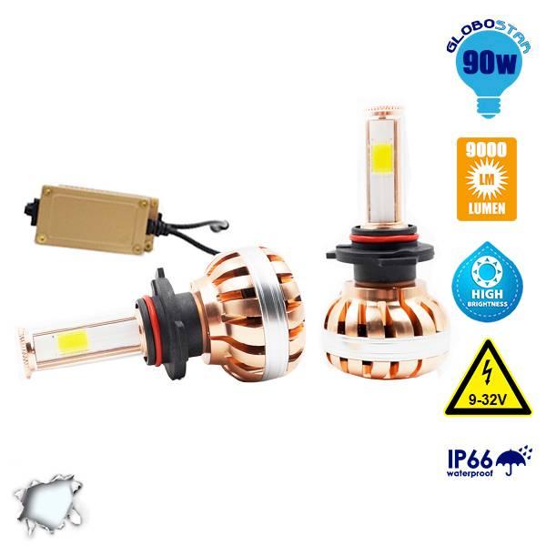 LED HID KIT HB4 9006 45 Watt 4500 Lumen 9-32 Volt DC 6000k GloboStar 99706 aytokinhto mhxanh fotismos oxhmaton led hid kit