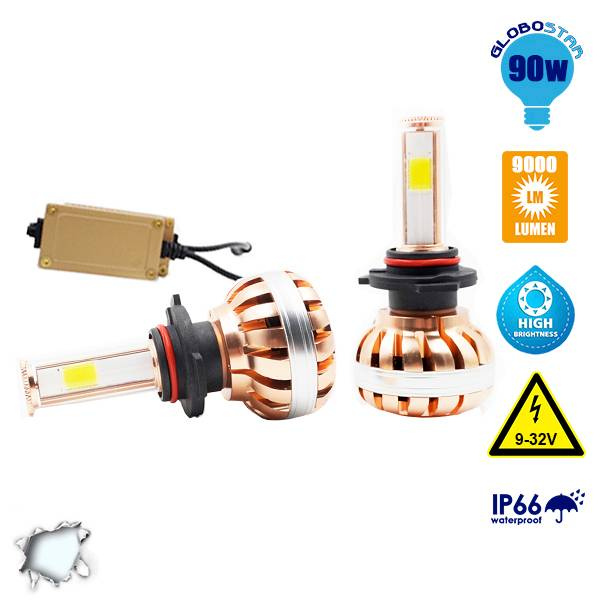 LED HID KIT H10 45 Watt 4500 Lumen 9-32 Volt DC 6000k GloboStar 99708 aytokinhto mhxanh fotismos oxhmaton led hid kit