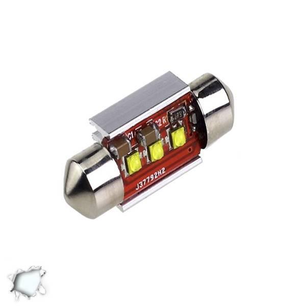 Σωληνωτός LED 31mm Can Bus με 3 CREE LED Ψυχρό Λευκό GloboStar 40169 aytokinhto mhxanh fotismos oxhmaton lampes led c5w