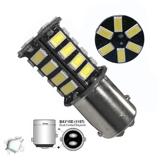 Λαμπτήρας LED 1157 30 SMD 5630 Ψυχρό Λευκό GloboStar 77379 aytokinhto mhxanh fotismos oxhmaton lampes led 1157