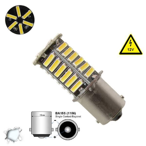 Λαμπτήρας LED 1156 36 SMD 7020 Ψυχρό Λευκό GloboStar 45621 aytokinhto mhxanh fotismos oxhmaton lampes led 1156