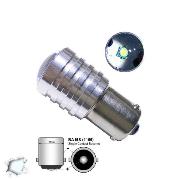 Λαμπτήρας LED 1156 1 CREE LED 10 Watt Ψυχρό Λευκό GloboStar 40141 aytokinhto mhxanh fotismos oxhmaton lampes led 1156