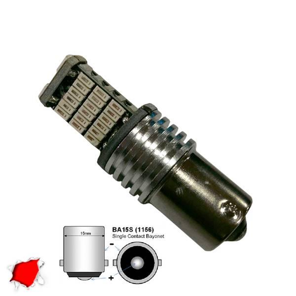 Λαμπτήρας 1156 45 SMD 4014 Can Bus 12v Κόκκινο GloboStar 04462 aytokinhto mhxanh fotismos oxhmaton lampes led 1156