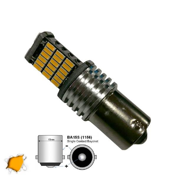Λαμπτήρας 1156 45 SMD 4014 Can Bus 12v Πορτοκαλί GloboStar 04461 aytokinhto mhxanh fotismos oxhmaton lampes led 1156