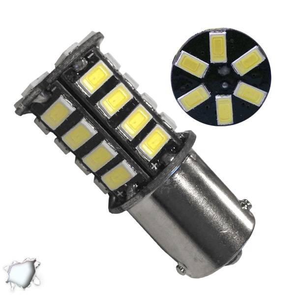Λαμπτήρας LED BAU15S 30 SMD 5630 Ψυχρό Λευκό GloboStar 04521 aytokinhto mhxanh fotismos oxhmaton lampes led bau15s