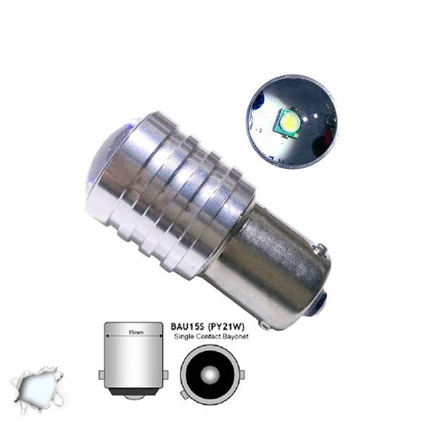 Λαμπτήρας LED BAU15S 1 CREE LED 10 Watt Ψυχρό Λευκό GloboStar 55633 aytokinhto mhxanh fotismos oxhmaton lampes led bau15s