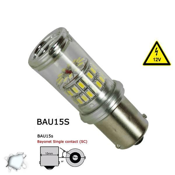 Λαμπτήρας BAU15S 48 SMD 4014 Can Bus 12v Ψυχρό 6000k GloboStar 05469 aytokinhto mhxanh fotismos oxhmaton lampes led bau15s