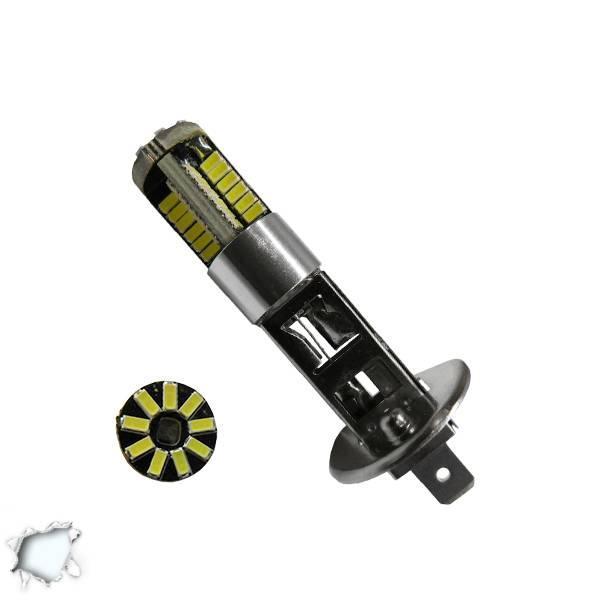 Λαμπτήρας LED H1 Can Bus με 57 SMD 4014 6000k GloboStar 40137 aytokinhto mhxanh fotismos oxhmaton lampes led gia probolakia