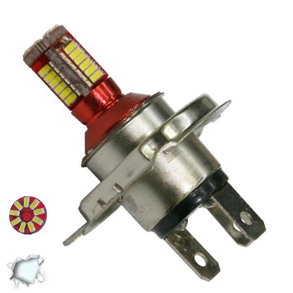 Λαμπτήρας LED H4 Can Bus με 57 SMD 4014 6000k GloboStar 40138 aytokinhto mhxanh fotismos oxhmaton lampes led gia probolakia