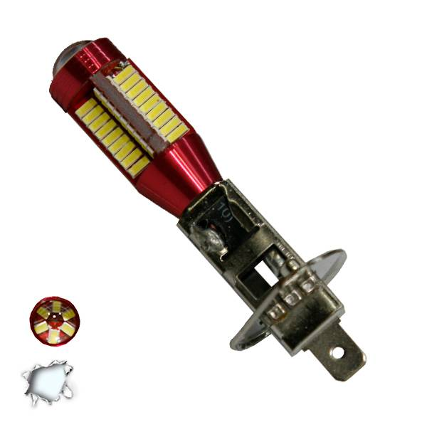 Λαμπτήρας LED H1 Can Bus με 78 SMD 4014 10-30v 6000k GloboStar 40183 aytokinhto mhxanh fotismos oxhmaton lampes led gia probolakia