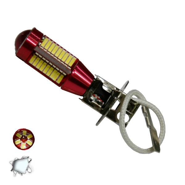Λαμπτήρας LED H3 Can Bus με 78 SMD 4014 10-30v 6000k GloboStar 40184 aytokinhto mhxanh fotismos oxhmaton lampes led gia probolakia
