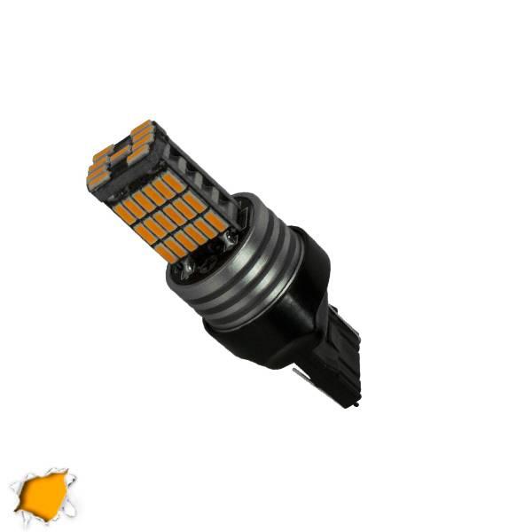 Λαμπτήρας LED T20 7440 με 45 SMD Can Bus 10-30v 4014 Πορτοκαλί GloboStar 40197 aytokinhto mhxanh fotismos oxhmaton lampthras led t20