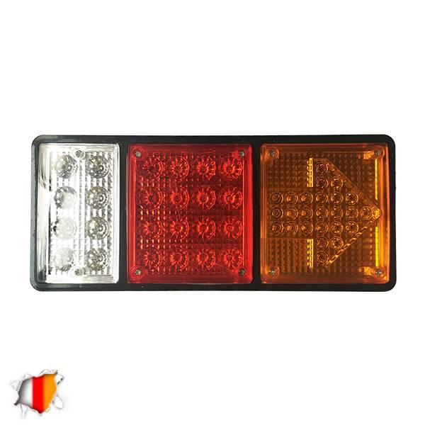 Πίσω Φανάρι Φορτηγού 49 LED 24 Volt Βέλος Universal IP66 GloboStar 75498 aytokinhto mhxanh fotismos forthgon fanaria led