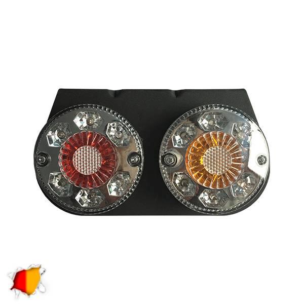 Πίσω Φανάρι Φορτηγού 22 LED 24 Volt Universal IP66 GloboStar 75499 aytokinhto mhxanh fotismos forthgon fanaria led