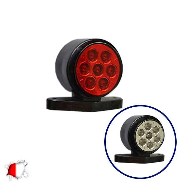 LED Set Πλευρικά Φώτα Όγκου Φορτηγών IP66 Κέρατο 10SMD 24 Volt GloboStar 75490 aytokinhto mhxanh fotismos forthgon fota ogkoy
