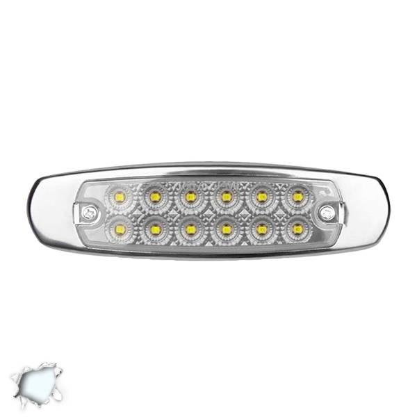 LED Πλευρικά Φώτα Όγκου Φορτηγών Αλουμινίου Νίκελ IP66 14 SMD 24 Volt Ψυχρό Glob aytokinhto mhxanh fotismos forthgon fota ogkoy