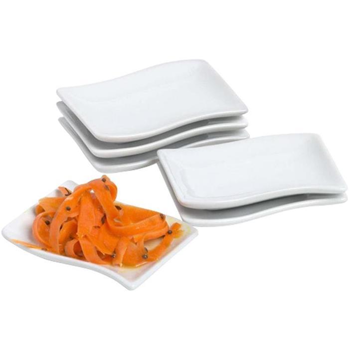 Πιατάκι Πορσελάνης Tapas Kυματιστό Cosy & Trendy RH4340 Σετ 6τμχ