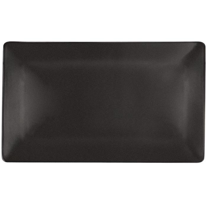 Ορθογώνιο Πιάτο Πορσελάνης Sushi 35x21x2cm Royale Noir.190.35 Μαύρο Σετ 10τμχ