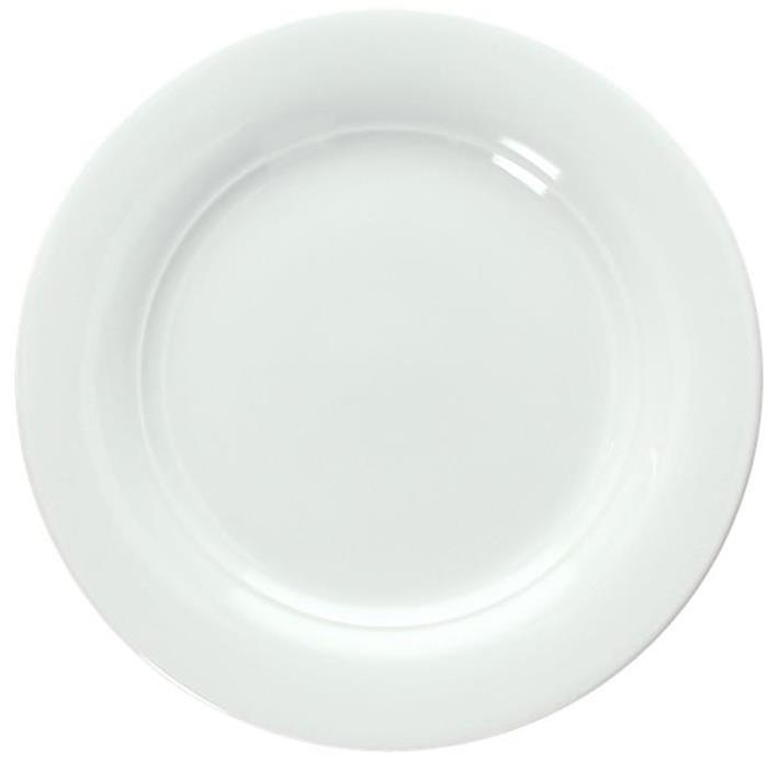 Πιάτο Ρηχό Πορσελάνης Φ25cm Tognana Thesis TZ000250000 Λευκό Σετ 6τμχ